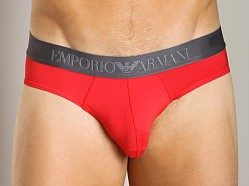 Emporio Armani Shine Waistband Brief Red