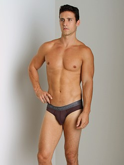 Emporio Armani Shine Waistband Brief Burgundy