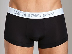Emporio Armani Shine Waistband Trunk Black