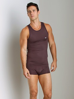 Emporio Armani Stretch Tank Top Burgundy