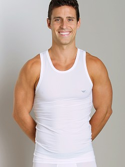 Emporio Armani Stretch Tank Top White