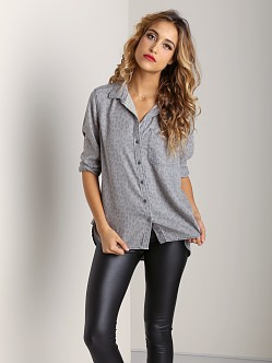 Bella Dahl Shirt Tail Button Down Snow Leopard