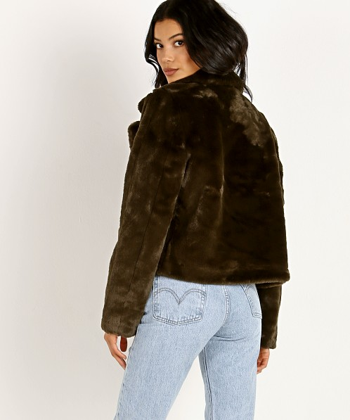 APPARIS Tukio Faux Fur Jacket Army Green