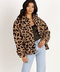 APPARIS Tiarra Teddy Bear Jacket Leopard Shearling, view 2