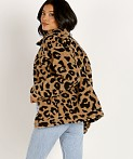 APPARIS Tiarra Teddy Bear Jacket Leopard Shearling, view 4