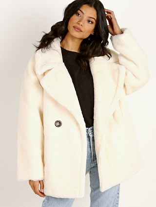 APPARIS Anais Faux Fur Jacket Ivory
