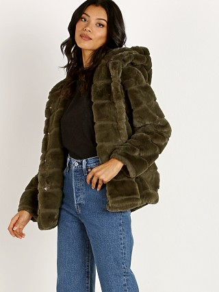 APPARIS Goldie Faux Fur Jacket Army Green