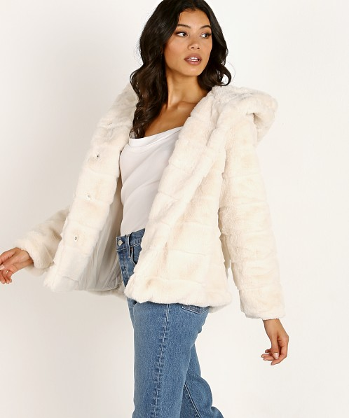 APPARIS Goldie Faux Fur Jacket Ivory