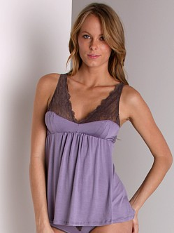 Fleur't A Brief Affair Lace Sweetheart Cami Amethyst