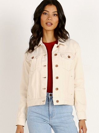 Model in natural Brixton Broadway Jacket