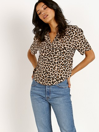 Brixton Naomi Short Sleeve Top Leopard