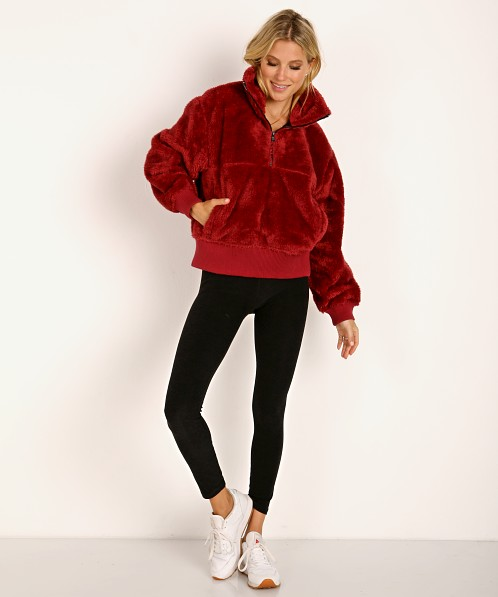 Varley Duray Revive Cozy Pullover Jacket Red Pear