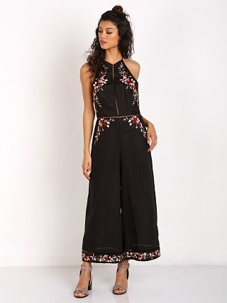 Zimmermann Sakura Embroidered Jumpsuit Black/Floral