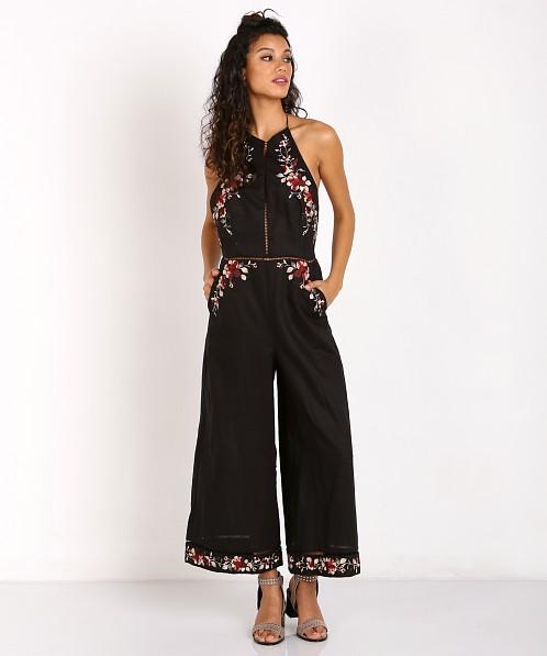 80409971f073 Zimmermann Sakura Embroidered Jumpsuit Black Floral 9740USAK - Free  Shipping at Largo Drive