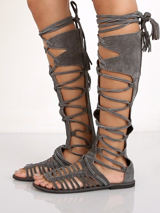 Free People Sun Seeker Tall Sandal Charcoal