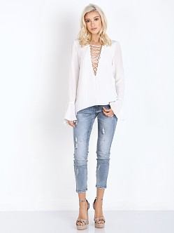 Stone Cold Fox Powell Blouse White