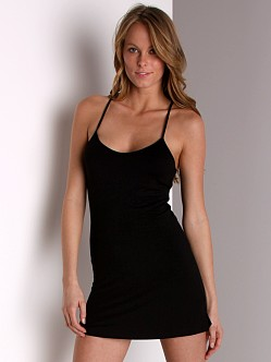 Wendy Glez Grecian Solids Racer Back Short Chemise Black