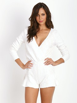 Line & Dot Monroe Sequin Romper White
