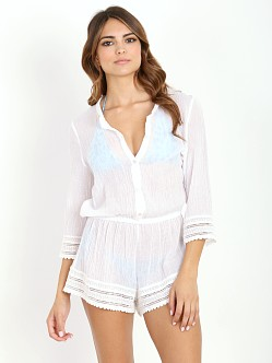 Eberjey Love Shack Pia Romper White