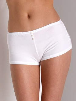 Maxey Supima Cotton/Spandex Shorts White