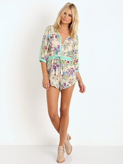 Spell Gypsy Queen Printed Romper Cream Floral