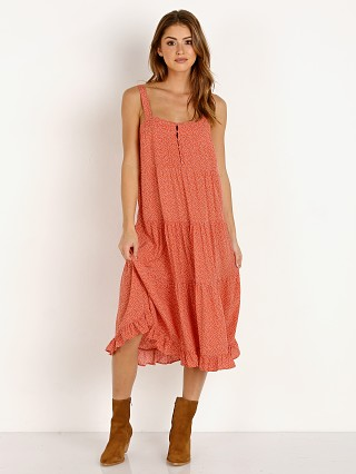Auguste the Label Florence Market Midi Dress Rust