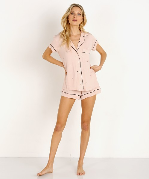 Eberjey Dots Short PJ Set Pink Tint/Black