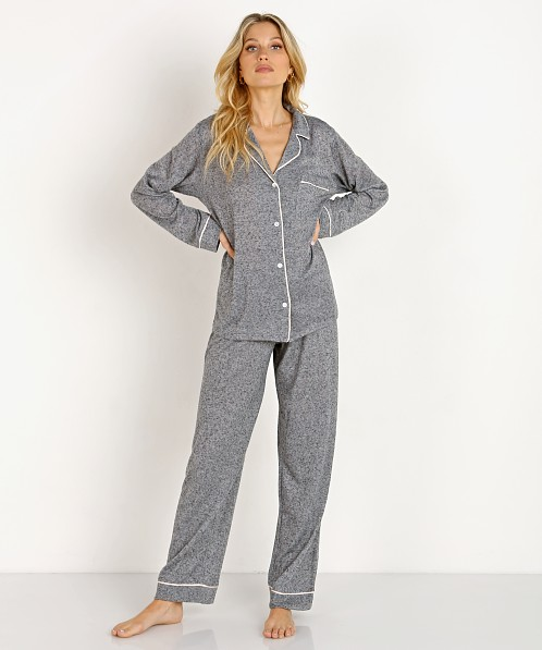 Eberjey Bobby Long PJ Set Heathered Grey