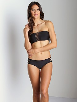 Mikoh Velzyland String Triple Loop Bikini Bottom Black
