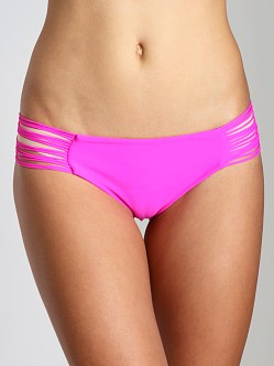 Mikoh Malibu String Side Bikini Bottom Guava