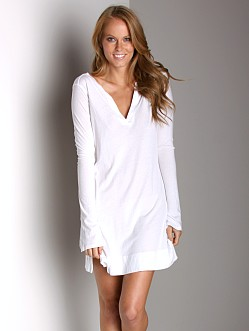 Beyond Yoga Henley Dress White
