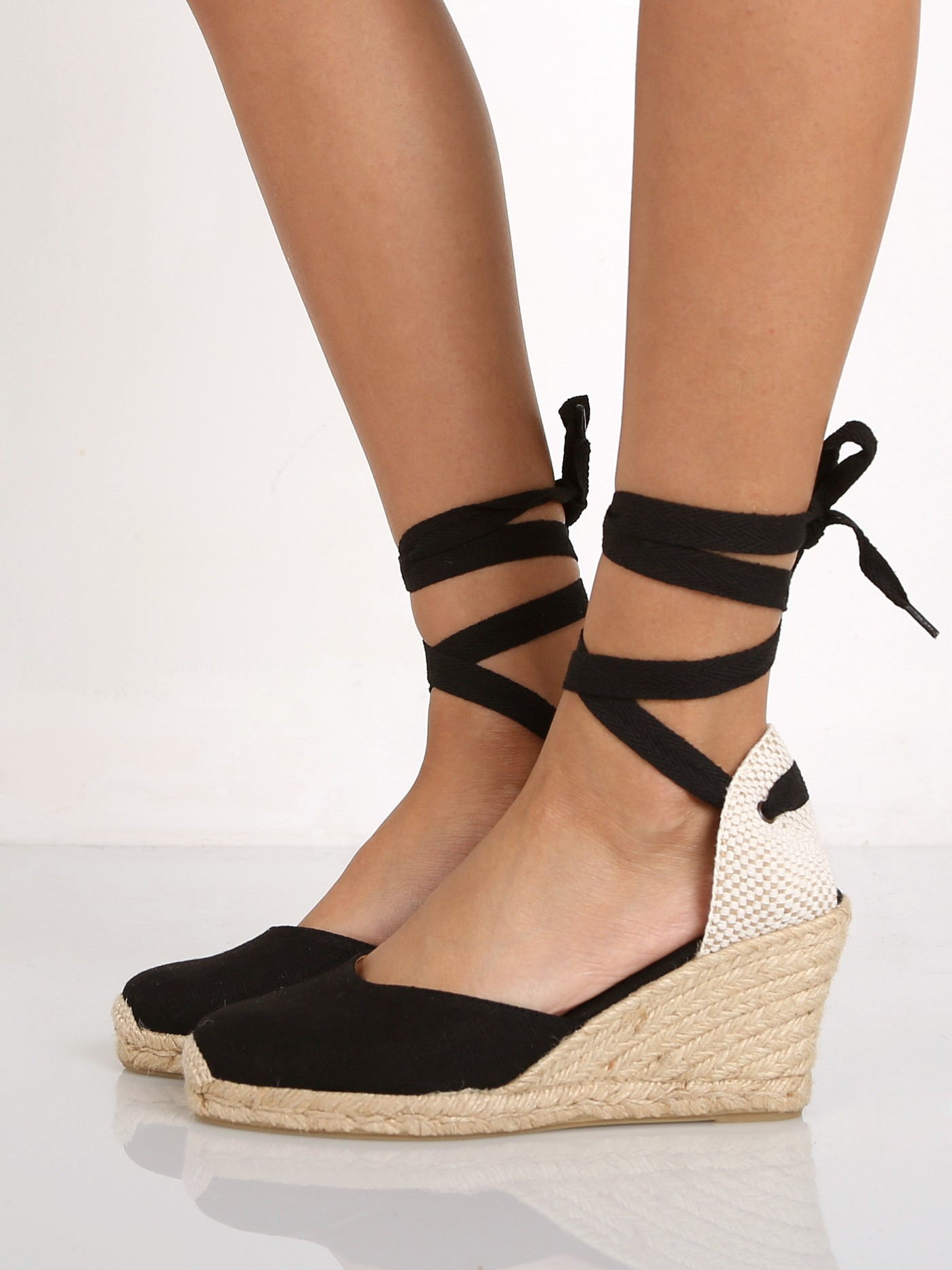 3545f977d577 Soludos Tall Wedge Linen Black FWT1101 - Free Shipping at Largo Drive