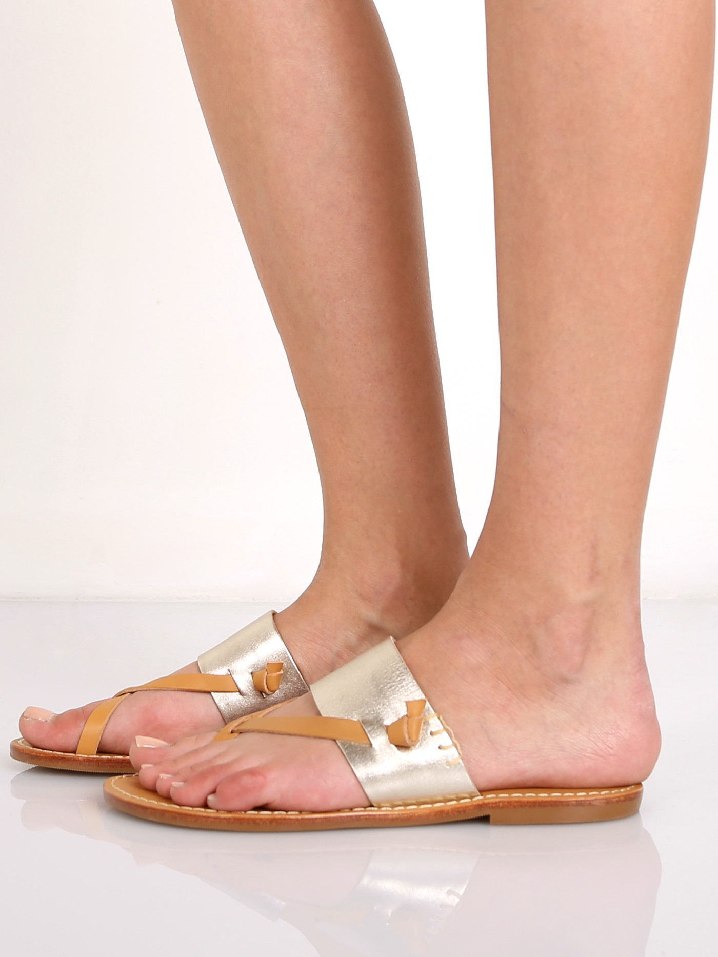 eee66664d6d9 Soludos Slotted Thong Sandal Metallic Platinum FST1300 041 - Free Shipping  at Largo Drive