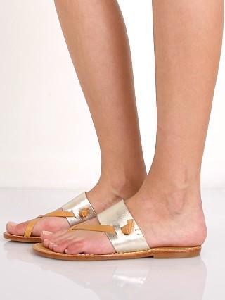 7cfa5d86fbcf6 Soludos Slotted Thong Sandal Metallic Platinum