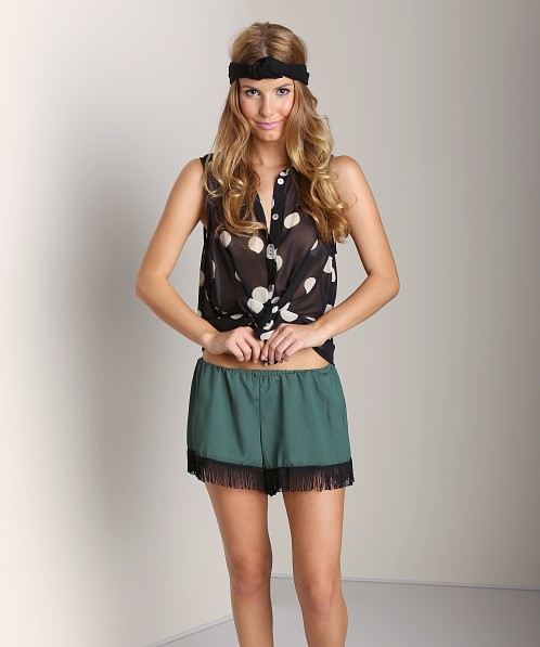 Show Me Your Mumu Froggy Fringe Knickers Forest Green