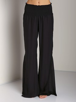 Show Me Your Mumu Roberts Party Pants Silky Black Satin