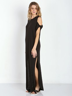 Free People Tri Blend Kick Around Dress Union Black