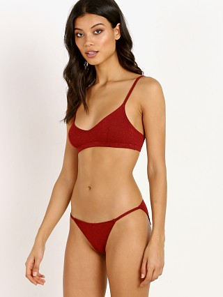 Only Hearts So Fine V Neck Bralette Red Stone