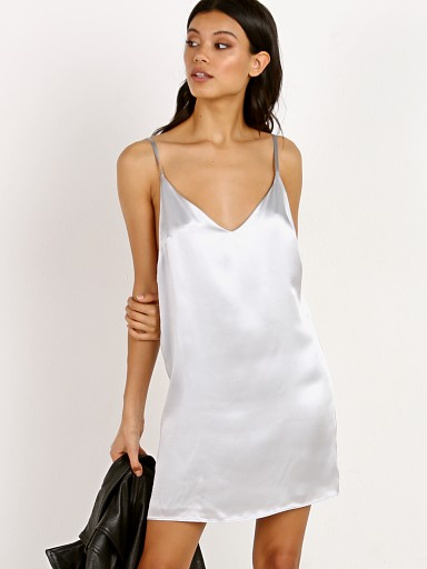 Only Hearts Silk Slip Dress Silver