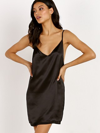 Only Hearts Silk Slip Dress Black