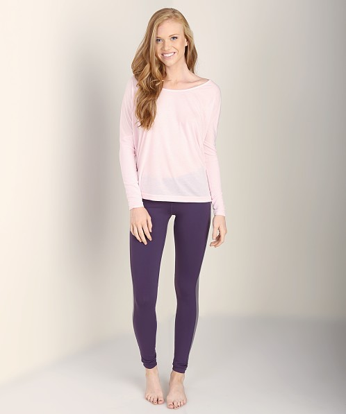 alo Cinder Long Sleeve Top Blush