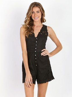 Zimmermann Trinity Scallop Playsuit Black
