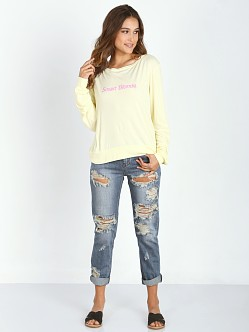 WILDFOX Smart Blonde Baggy Beach Jumper