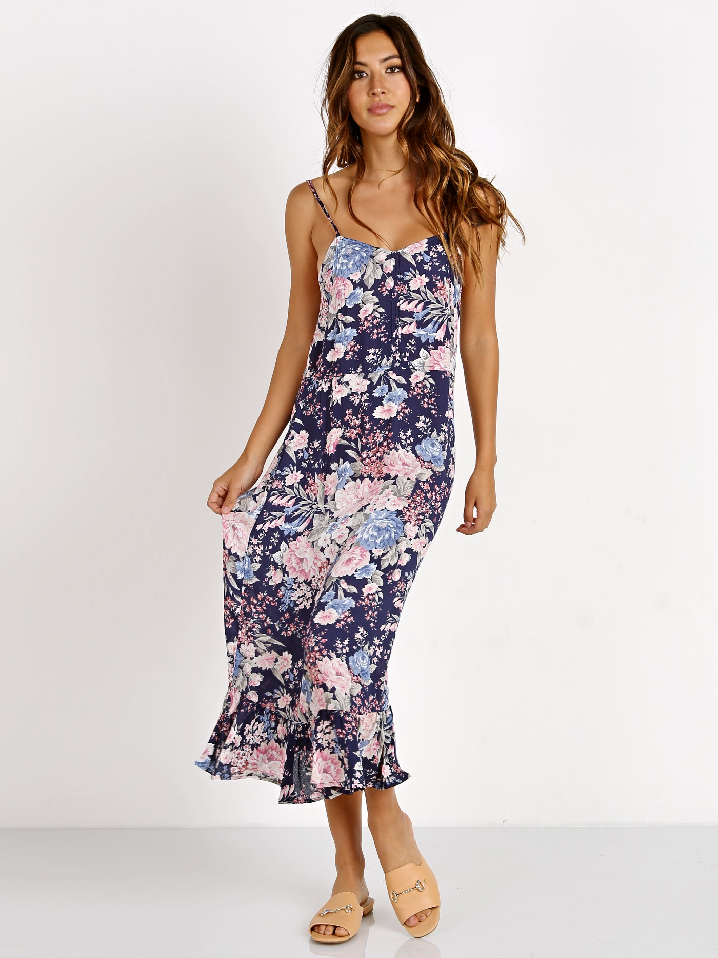bb36cb73d24d Auguste Alice Slip Dress Francis Floral Navy Blue AMH1-17215-NB - Free  Shipping at Largo Drive