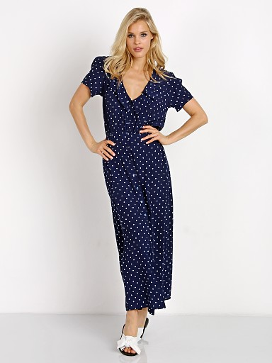 Auguste the Label Lilly Lady Dress Classic Polka Dot Navy Blue