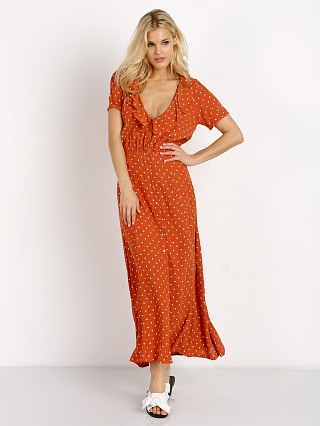 Auguste Lilly Lady Dress Classic Polka Dot Rust