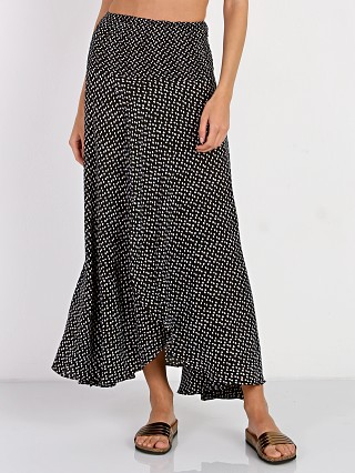Auguste Little Lady Shirred Waist Skirt Penelope Polka Black