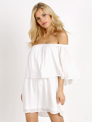 Show Me Your Mumu Mako Mini Dress White Challis