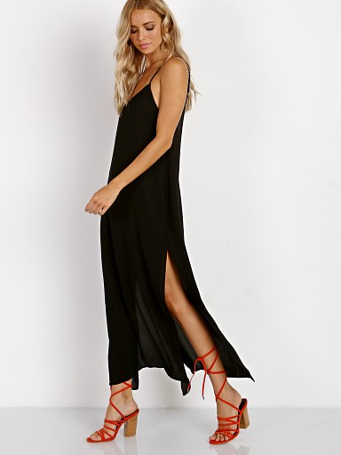 Show Me Your Mumu Angie Slip Dress Black