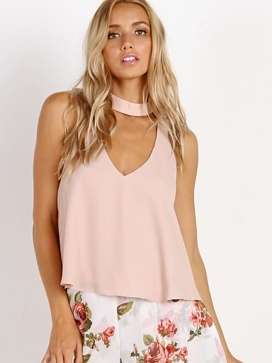 Show Me Your Mumu Casey Collar Top Dusty Blush